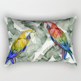 PARROTS IN THE JUNGLE Rectangular Pillow