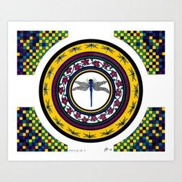 Circle of Life 3 / Dragonfly Art Print