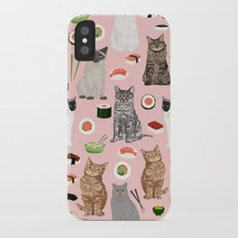 Cat breeds pure bred cats sushi kawaii pet gifts cat person must haves iPhone Case