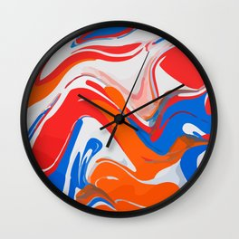 Liquid marbling acrylic paint Wall Clock
