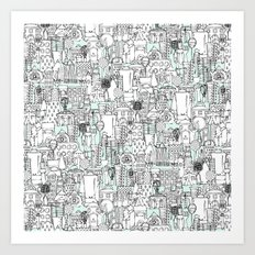 kitchen town Art Print