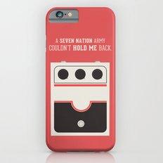 White Striped Slim Case iPhone 6s