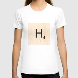 Scrabble Letter H - Large Scrabble Tiles T-shirt