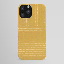 Lines (Mustard Yellow) iPhone Case