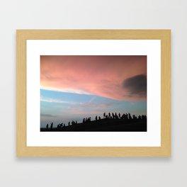 Belgrade Sunset Framed Art Print