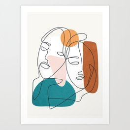 Abstract Faces 29 Art Print