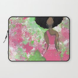 Dripping Pink and Green Angel Laptop Sleeve