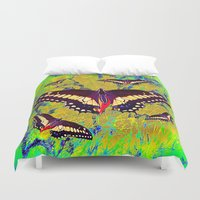 butterflies Duvet Covers featuring butterflies  by  Agostino Lo Coco
