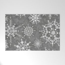 Winter Snowflakes Welcome Mat
