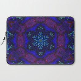 Bioluminescent Tribal Lotus Laptop Sleeve