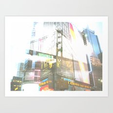 SF to NY Art Print