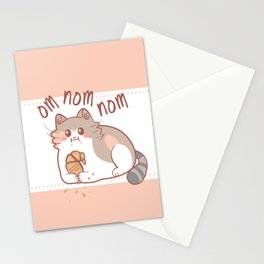 Om Nom Nom Stationery Cards