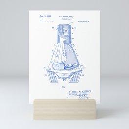 Space Shuttle Vintage Patent Hand Drawing Mini Art Print