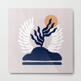 Dreamy design of an island with plants Metal Print