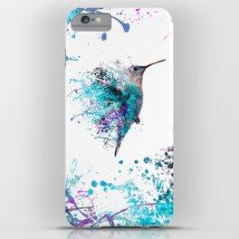 HUMMING BIRD SPLASH iPhone Case
