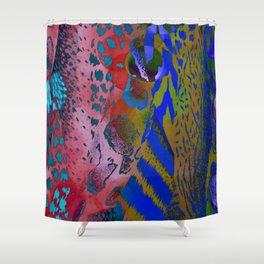 Offbeat Animal Print Shower Curtain