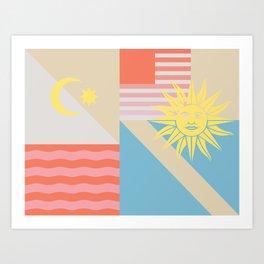 Sun & Sky Art Print