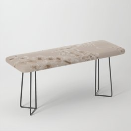 Cherry Blossom in Taupe Bench