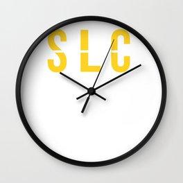 SLC - Salt Lake City Airport - Utah Airport Code Souvenir or Gift Design  Wall Clock