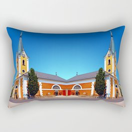 The village church of Alberndorf in der Riedmark 2 Rectangular Pillow