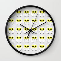hedwig Wall Clocks featuring Hedwig by Jessie Upward