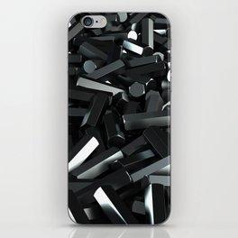 Pile of black hexagon details iPhone Skin