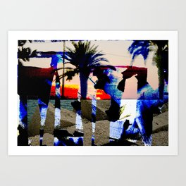_tramonto rosso Art Print
