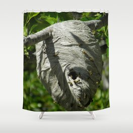 Yellow Jacket Nest Shower Curtain