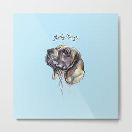 Lovely Beagle - by Fanitsa Petrou. Metal Print