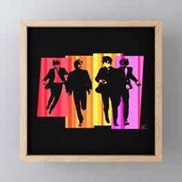 Fab Four   Pop Art Framed Mini Art Print