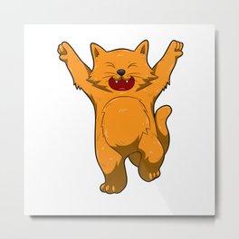 Jubilation Cat Dance Emote Funny Gift Metal Print