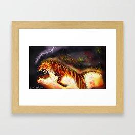 Fire Tiger Framed Art Print