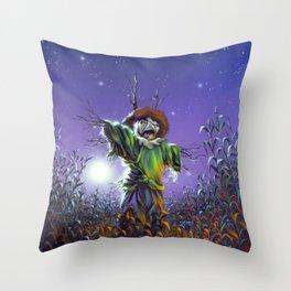 The Scarecrow Walks at Midnight Throw Pillow