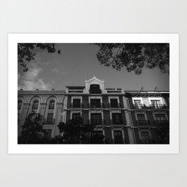 Evening in Madrid Art Print