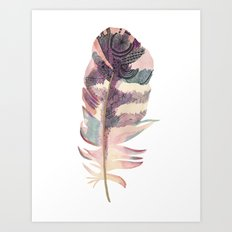 Feather Coral Art Print