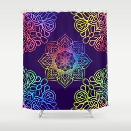 Bohemian 1960's Mandala Pattern of Creativity Shower Curtain