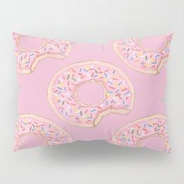 Pink Donut Pillow Sham