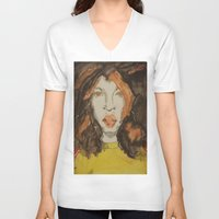 afro V-neck T-shirts featuring Afro by Stephon Daniels