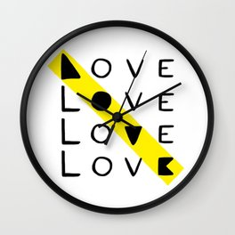 LOVE yourself - others - all animals - our planet Wall Clock