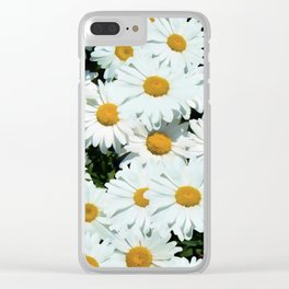 Daisies explode into flower Clear iPhone Case