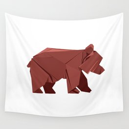 Origami Bear Wall Tapestry
