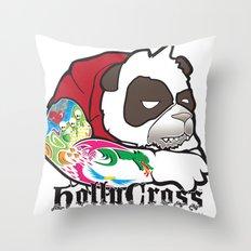 Cranky Panda Throw Pillow
