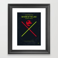 No156 My Star E-VI minimal movie poster Wars Framed Art Print