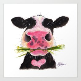 Nosey Cow ' ROCKY ' by Shirley MacArthur Art Print