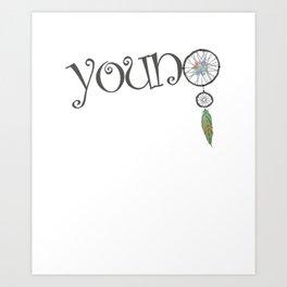 young dreamcatcher Art Print