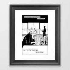 Dogs and Books Framed Art Print