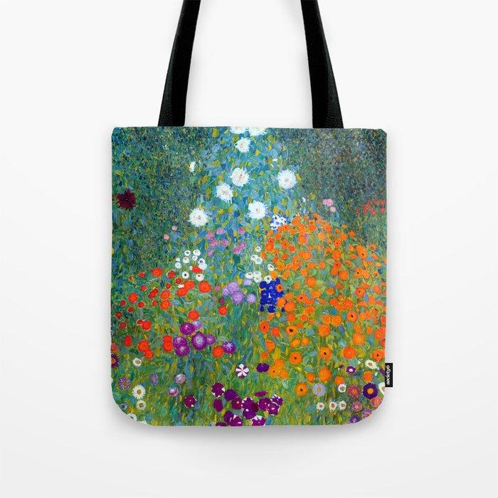 Gustav Klimt Flower Garden Umhängetasche