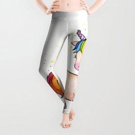 Sleeping Rainbow Unicorn Leggings