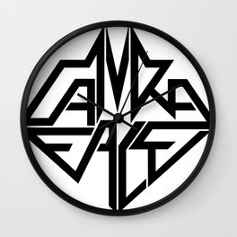 CamRaFace Logo White for T-Shirts Wall Clock