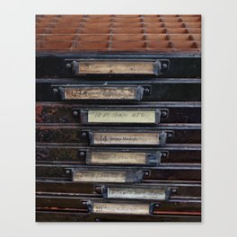 Type Drawers Canvas Print